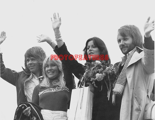 Abba 1976 Warsaw Airport..