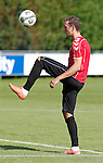 Nederland, Utrecht, 30 juni 2012.Eerste training van FC Utrecht .Alexander Gerndt van FC Utrecht in actie met bal