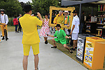 The Tour Village before Stage 1, a 14km individual time trial around Dusseldorf, of the 104th edition of the Tour de France 2017, Dusseldorf, Germany. 1st July 2017.<br /> Picture: Eoin Clarke | Cyclefile<br /> <br /> <br /> All photos usage must carry mandatory copyright credit (&copy; Cyclefile | Eoin Clarke)