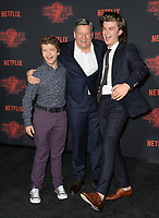 Gaten Matarazzo, Ted Sarandos &amp; Joe Keery at the premiere for Netflix's &quot;Stranger Things 2&quot; at the Westwood Village Theatre. Los Angeles, USA 26 October  2017<br /> Picture: Paul Smith/Featureflash/SilverHub 0208 004 5359 sales@silverhubmedia.com