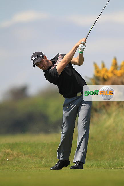 Alex Gleeson (Castle) on the 8th tee during Round 4 of the Flogas Irish Amateur Open Championship at Royal Dublin on Sunday 8th May 2016.<br /> Picture:  Golffile / Thos Caffrey