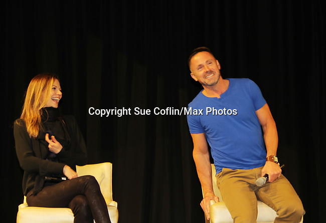 General Hospital's actors Tamara Braun & William DeVry on October 5, 2019 at the Hollywood Casino, Columbus, Ohio with a Q & A and a VIP meet and greet. (Photo by Sue Coflin/Max Photo)