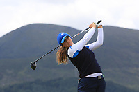 Clara Manzalini (ITA) on the 2nd tee during Round 1 of the Women's Amateur Championship at Royal County Down Golf Club in Newcastle Co. Down on Tuesday 11th June 2019.<br /> Picture:  Thos Caffrey / www.golffile.ie<br /> <br /> All photos usage must carry mandatory copyright credit (© Golffile | Thos Caffrey)
