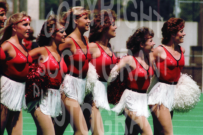 Ottawa Rough Rider Cheerleaders 1984. Photo F. Scott Grant