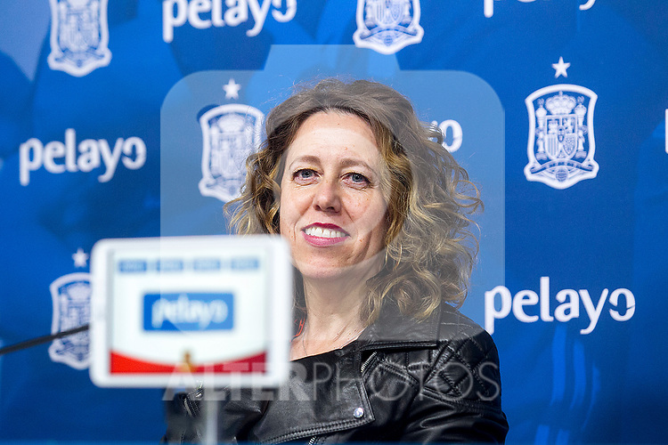 Royal Spanish Football Federation's Vice president Ana Munoz Merino during the press conference at the The Football City of the Royal Spanish Football Federation in Madrid 19th March 2019. (ALTERPHOTOS/Alconada)
