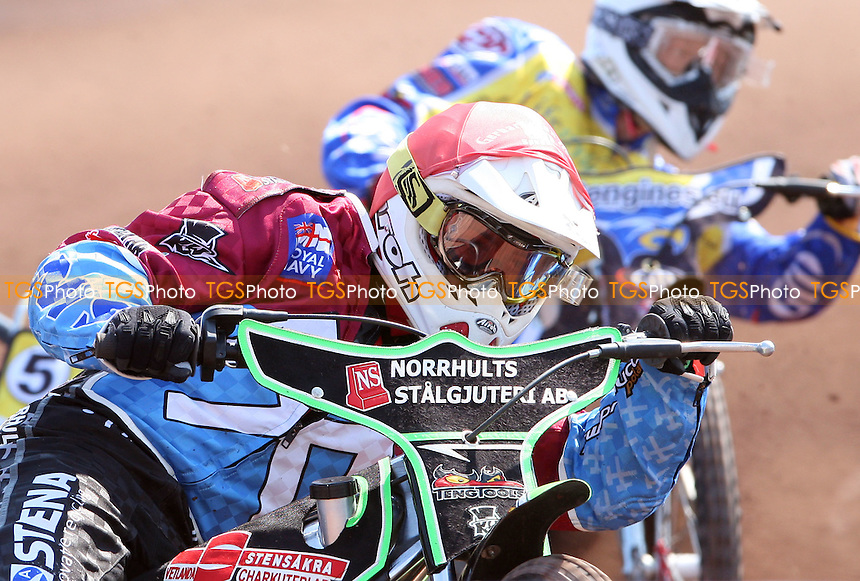 Close-up with Peter Ljung of Lakeside Hammers in Heat 4 - Lakeside Hammers vs Eastbourne Eagles, Elite League Speedway at the Arena Essex Raceway, Purfleet - 22/04/11 - MANDATORY CREDIT: Rob Newell/TGSPHOTO - Self billing applies where appropriate - 0845 094 6026 - contact@tgsphoto.co.uk - NO UNPAID USE.