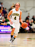 31 January 2010: University of Vermont Catamount guard May Kotsopoulos, a Senior from Waterloo, Ontario, in action against the University of New Hampshire Wildcats at Patrick Gymnasium in Burlington, Vermont. The Lady Catamounts defeated the visiting Wildcats 78-64. Mandatory Credit: Ed Wolfstein Photo