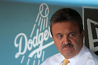 Ned Colletti, general manager of the Los Angeles Dodgers, before against the Chicago Cubs at Dodger Stadium in Los Angeles, California on May 3, 2011. Photo by Larry Goren/Four Seam Images