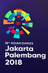 General view,  <br /> AUGUST 18, 2018 : <br /> Press Conference of the Japanese delegation <br /> at Main Press Center <br /> during the 2018 Jakarta Palembang Asian Games <br /> in Jakarta, Indonesia. <br /> (Photo by Naoki Nishimura/AFLO SPORT)