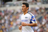 Roger Espinoza (17) of the Kansas City Wizards. The Philadelphia Union and the Kansas City Wizards played to a 1-1 tie during a Major League Soccer (MLS) match at PPL Park in Chester, PA, on September 04, 2010.