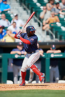 Pawtucket Red Sox right fielder Rusney Castillo (38) at bat during a game against the Buffalo Bisons on June 28, 2018 at Coca-Cola Field in Buffalo, New York.  Buffalo defeated Pawtucket 8-1.  (Mike Janes/Four Seam Images)