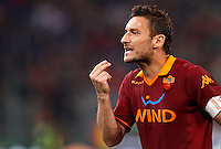 Calcio, Serie A: Roma vs Chievo Verona. Roma, stadio Olimpico, 7 maggio 2013..AS Roma forward Francesco Totti gestures during the Italian Serie A football match between AS Roma and ChievoVerona at Rome's Olympic stadium, 7 May 2013..UPDATE IMAGES PRESS/Riccardo De Luca