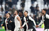 Calcio, Serie A: Juventus - Cagliari, Turin, Allianz Stadium, January 6, 2020.<br /> Juventus' players celebrate after winning 4-0 the Italian Serie A football match between Juventus and Cagliari at Torino's Allianz stadium, on January 6, 2020.<br /> UPDATE IMAGES PRESS/Isabella Bonotto