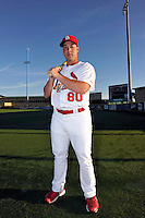 Mar 01, 2010; Jupiter, FL, USA; St. Louis Cardinals  catcher Tony Cruz (80) during  photoday at Roger Dean Stadium. Mandatory Credit: Tomasso De Rosa/ Four Seam Images
