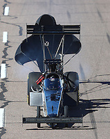 Feb 25, 2017; Chandler, AZ, USA; NHRA top fuel driver Shawn Reed during qualifying for the Arizona Nationals at Wild Horse Pass Motorsports Park. Mandatory Credit: Mark J. Rebilas-USA TODAY Sports