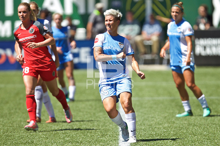 Portland, OR - Saturday August 05, 2017: Janine Van Wyk during a regular season National Women's Soccer League (NWSL) match between the Portland Thorns FC and the Houston Dash at Providence Park.