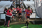 Romi Ropati heads out for the second half. Air New Zealand Air NZ Cup warm-up rugby game between the Counties Manukau Steelers & Tasman Mako's, played at Growers Stadium Pukekohe on Sunday July 20th 2008..Counties Manukau won the match 30 - 7.
