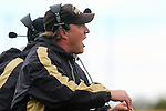 Palos Verdes, CA 11/04/11 - Coach Kevin Moen in action during the West Torrance vs Peninsula varsity football game.
