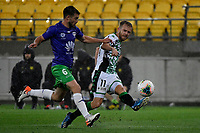 Connor Pain of Western United FC during the A League - Wellington Phoenix v Western United FC at Sky Stadium, Wellington, New Zealand on Friday 21 February 2020. <br /> Photo by Masanori Udagawa. <br /> www.photowellington.photoshelter.com