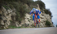 Roy Jans (BEL/Wanty-Groupe Gobert) aka 'The Drop'<br /> <br /> Team Wanty - Groupe Gobert 2015 training camp
