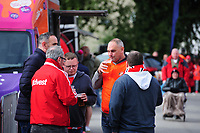 Sunderland fans enjoy the pre-match atmosphere in the fan zone<br /> <br /> Photographer Chris Vaughan/CameraSport<br /> <br /> The EFL Sky Bet League One - Lincoln City v Sunderland - Saturday 5th October 2019 - Sincil Bank - Lincoln<br /> <br /> World Copyright © 2019 CameraSport. All rights reserved. 43 Linden Ave. Countesthorpe. Leicester. England. LE8 5PG - Tel: +44 (0) 116 277 4147 - admin@camerasport.com - www.camerasport.com