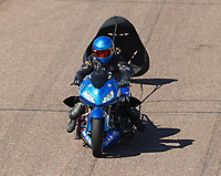Feb 23, 2019; Chandler, AZ, USA; NHRA top fuel Harley Davidson nitro motorcycle rider Bob Malloy during qualifying for the Arizona Nationals at Wild Horse Pass Motorsports Park. Mandatory Credit: Mark J. Rebilas-USA TODAY Sports