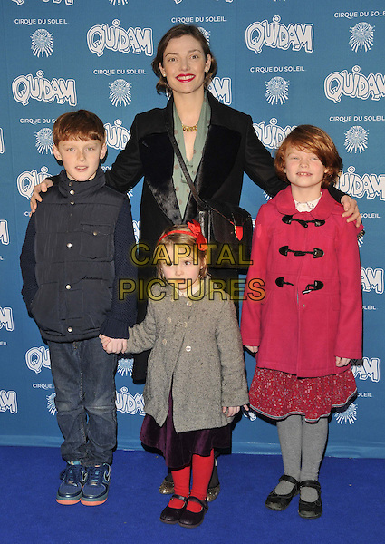 LONDON, ENGLAND - JANUARY 07: Camilla Rutherford &amp; her kids attend the &quot;Cirque du Soleil: Quidam&quot; VIP press night, Royal Albert Hall, Kensington Gore, on Tuesday January 07, 2014 in London, England, UK.<br /> CAP/CAN<br /> &copy;Can Nguyen/Capital Pictures