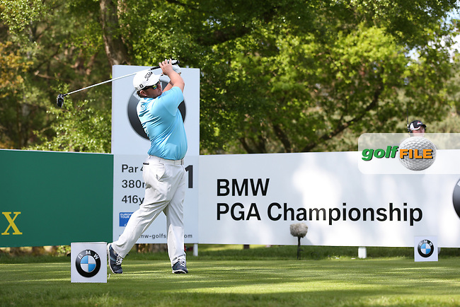 George Coetzee (RSA)  during Round One of the 2015 BMW PGA Championship over the West Course at Wentworth, Virginia Water, London. Picture David Lloyd, www.golffile.ie: 21/05/2015
