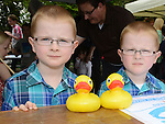 Shane and Daniel Farnan pictured at the Duck Derby in Dunleer. Photo:Colin Bell/pressphotos.ie