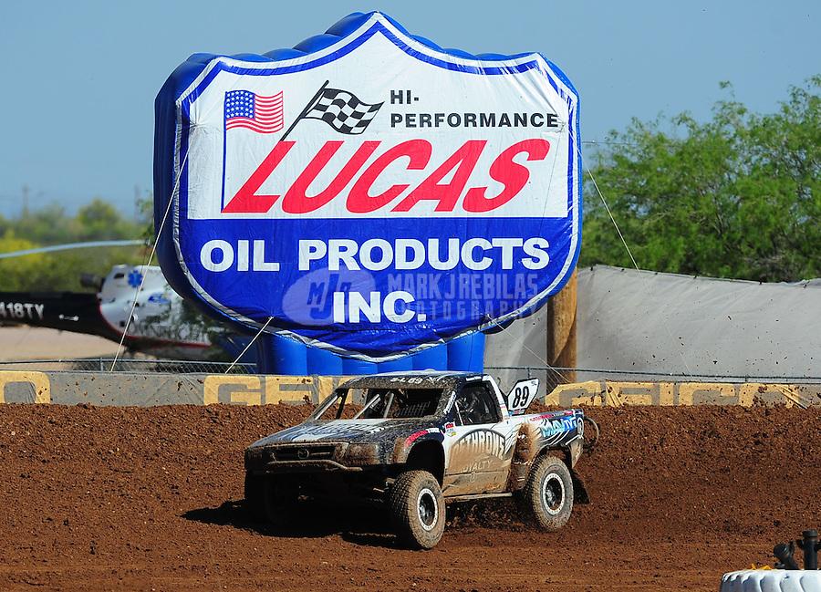 Apr 16, 2011; Surprise, AZ USA; LOORRS driver Jason Ellis (89) during round 3 at Speedworld Off Road Park. Mandatory Credit: Mark J. Rebilas-.