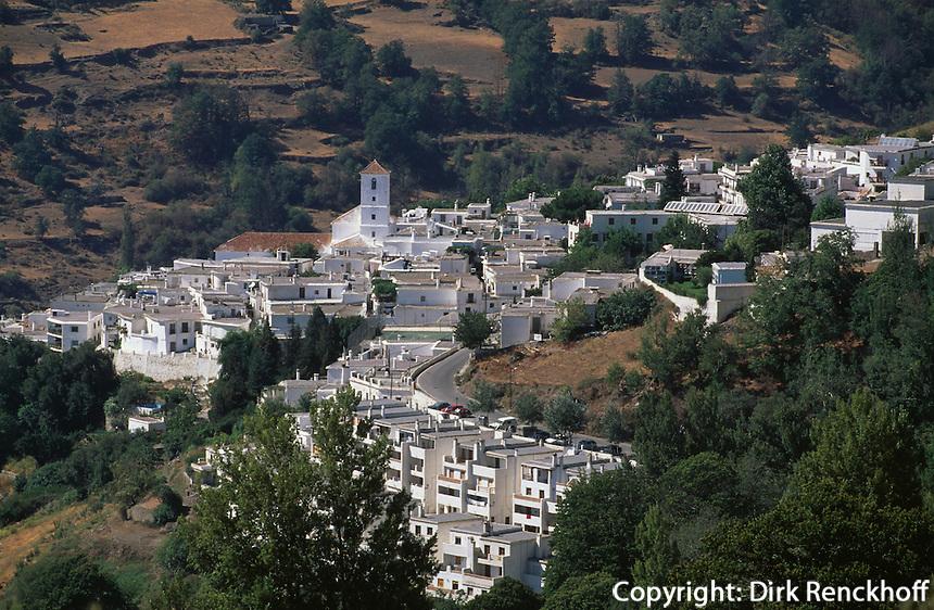 Spanien, Andalusien, Das Dorf Capileira in den Alpujarras (Alpujarra granadina)