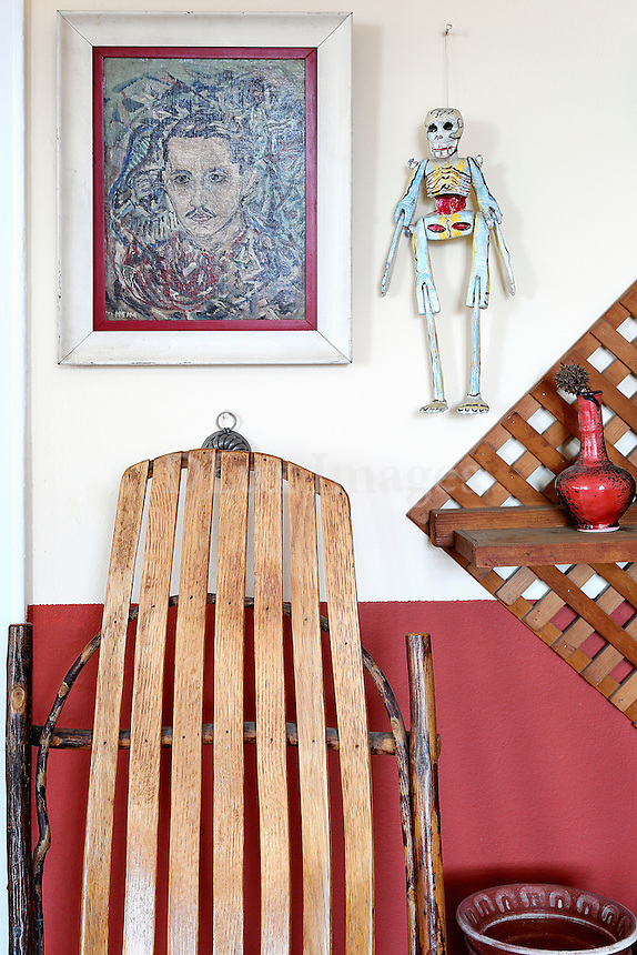 ethnic wooden chair