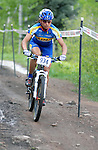 2 June 2007:  Shonny Vanlandingham on her way to winning the Pro Women's Mountain Bike competition at  the Teva Mountain Games, Vail, Colorado.