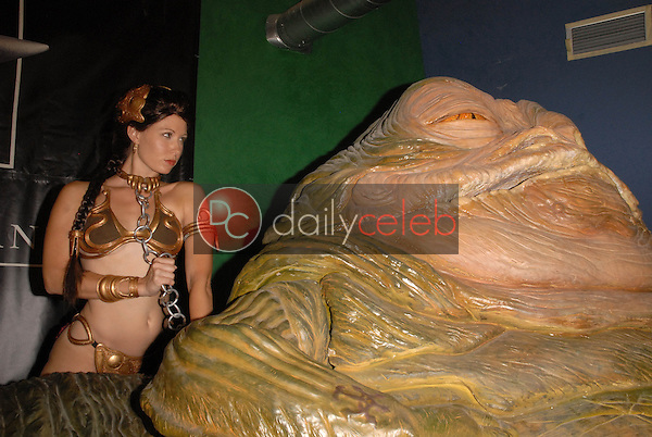 Natalie Atkins<br /> at the Slave Leia day tour and photo shoot with Jabba the Hutt, featuring members of LeiasMetalBikini.com and CelebrityCosplay.com, Gentle Giant Studios, Burbank, CA. 07-16-10<br /> David Edwards/Dailyceleb.com 818-249-4998