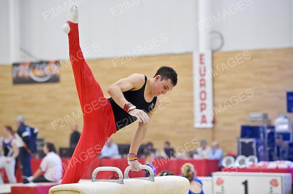 The English Gymnastics Championships Dartford Kent.3.2.12. Sam Hunter of Hinckley and Great Britain.