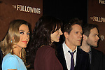 """Guiding Light's Kevin Bacon """"Tim Werner"""" (Search For Tomorrow), As The World Turns' Annie Parisse """"Julia"""" and Passions Natalie Zea """"Gwen Hotchkiss"""" and Shawn Ashmore (R) star in """"The Following"""", Fox's new tv series on Mondays, which held its world premiere on January 19, 2013 at the New York Public Library, New York City, New York. (Photo by Sue Coflin/Max Photos)"""