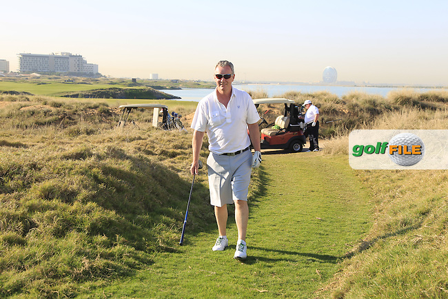 Aiden Heavey walks to the 10th tee on the 10th tee to start his match during the 2015 Abu Dhabi Invitational Am-Am event held at Yas Links Golf Course, Abu Dhabi.: Picture Eoin Clarke, www.golffile.ie: 1/26/2015