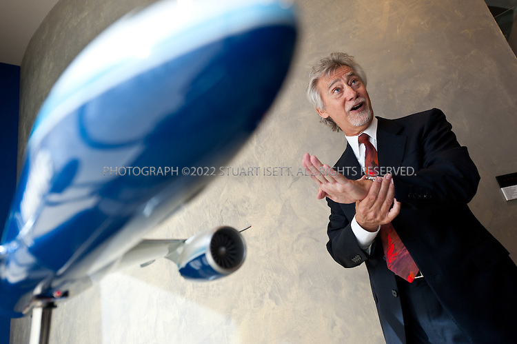 9/19/2011--Renton, WA, USA..R. Blake Emery, director of Differentiation Strategy, who worked Boeing's 787 Dreamliner Boeing will deliver the first 787 to launch customer ANA (All Nippon Airways) at the end of the month...©2011 Stuart Isett. All rights reserved.
