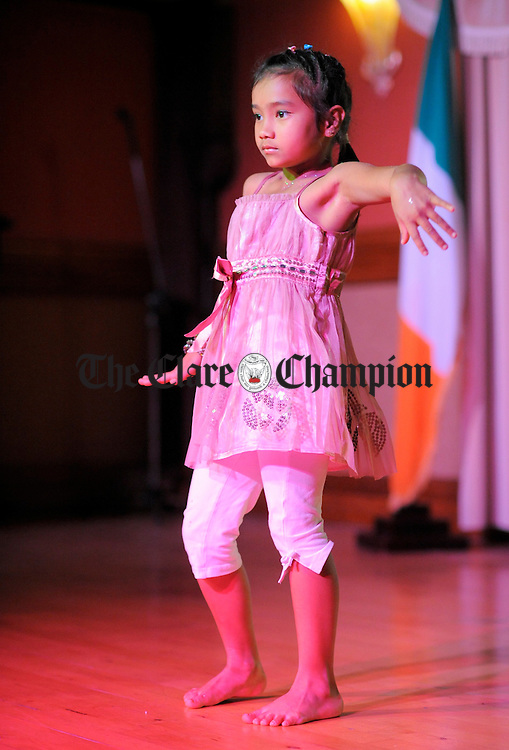 Tamya performs at the Diwali, Festival Of Light organised by the Mid-West Indian Irish Society at the Oakwood Hotel Shannon. Photograph by John Kelly.