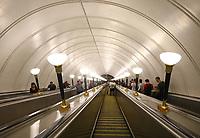 Rolltreppe in der Metro-Station Sportivnaya am Luschniki-Stadion - 20.06.2018: Portugal vs. Marokko, Gruppe B, 2. Spieltag, Luschniki Stadion Moskau