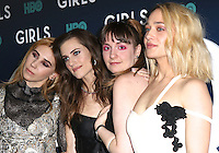 www.acepixs.com<br /> <br /> February 2 2017, New York City<br /> <br /> Zosia Mamet, Allison Williams, Lena Dunham and Jemima Kirke arriving at the the New York premiere of the sixth and final season of 'Girls' at the Alice Tully Hall, Lincoln Center on February 2, 2017 in New York City.<br /> <br /> By Line: Nancy Rivera/ACE Pictures<br /> <br /> <br /> ACE Pictures Inc<br /> Tel: 6467670430<br /> Email: info@acepixs.com<br /> www.acepixs.com