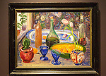 'Still Life' undated oil painting sketch on canvas by Nikolai Astrup 1880-1928, Kode 4 art gallery Bergen, Norway