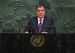 Opening of GA 72 2017 AM<br /> <br /> His Excellency Emomali Rahmon, President of the Republic of Tajikistan
