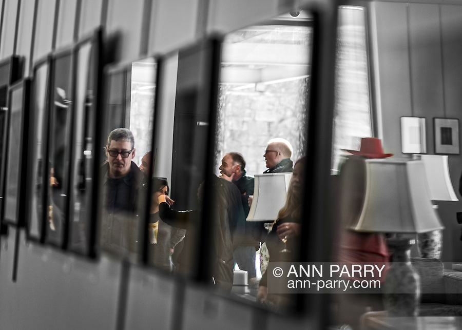 Manhasset, New York, U.S. February 15, 2015. Artists Reception for 'A Personal Perspective' exhibit, by Long Island Center of Photography LICP photographers, at Shelter Rock Gallery at Unitarian Universalist Congregation.