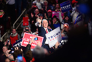 "Hershey, PA - December 15, 2016: Vice president-elect Mike Pence speaks to supporters before he introduces Donald Trump at a rally during the ""Thank You Tour"" at the Giant Center in Hershey, PA, December 15, 2016.  (Photo by Don Baxter/Media Images International)"