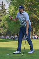 Marc Leishman (AUS) after sinking his putt on 18 during round 4 of the World Golf Championships, Mexico, Club De Golf Chapultepec, Mexico City, Mexico. 3/4/2018.<br /> Picture: Golffile | Ken Murray<br /> <br /> <br /> All photo usage must carry mandatory copyright credit (&copy; Golffile | Ken Murray)