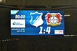 20.01.2018, wirsol-Rhein-Neckar-Arena, Sinsheim, GER, 1. FBL, TSG 1899 Hoffenheim vs Bayer 04 Leverkusen, im Bild Endstand / Endergebnis / Anzeigetafel / feature<br /> <br /> Foto &copy; nordphoto / Fabisch