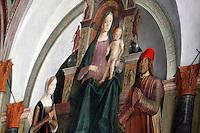 Affreschi di Lorenzo Costa nella chiesa di San Giacomo Maggiore a Bologna.<br /> Frescoes by Lorenzo Costa in the Church of San Giacomo Maggiore, Bologna.<br /> UPDATE IMAGES PRESS/Riccardo De Luca