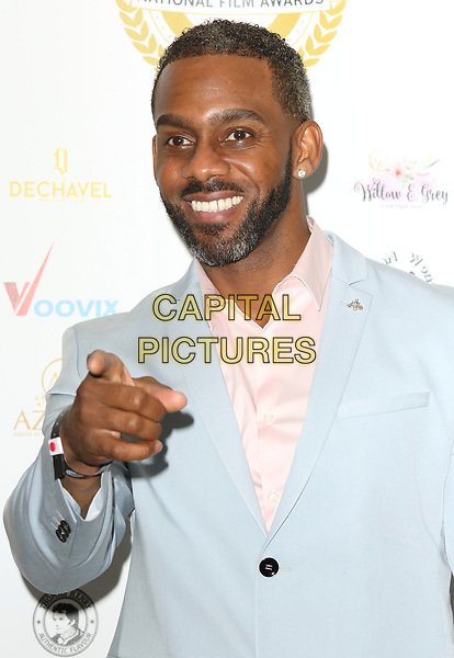 Richard Blackwood at the National Film Awards at the Porchester Hall, London on  Wednesday 28 March 2018 <br /> CAP/ROS<br /> &copy;ROS/Capital Pictures