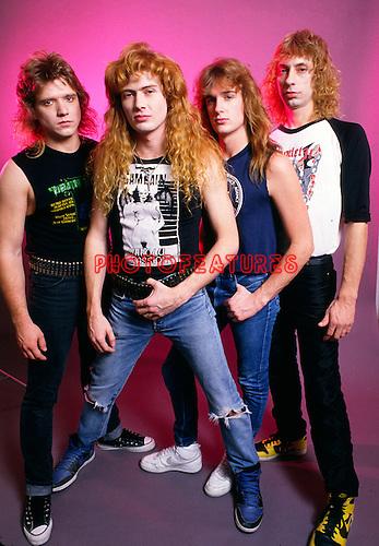 Megadeth 1986.© Chris Walter.